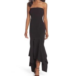 Vince Camuto Black Formal Strapless Midi Dress